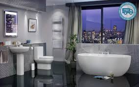 Cheap Modern Bathroom Suites Arc Complete Freestanding Bathroom Suite Bathshop321
