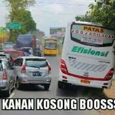 Meme Mobil - meme lucu menyindir bus
