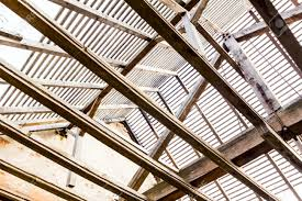 Prefabricated Roof Trusses Roof Reconstruction With Wood Framing And Trough Roof Trusses