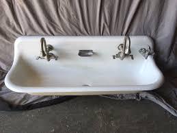 cast iron trough sink vintage industrial cast iron white porcelain 48 double gang trough