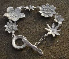 flower silver bracelet images Womens contemporary silver flower bracelet love2have in the uk jpg