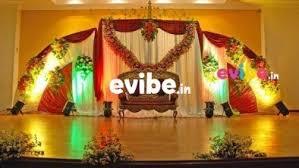 best wedding reception engagement stage flower decorators