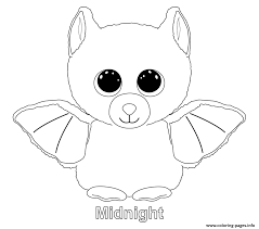 Halloween Bats To Color by Beanie Boo Coloring Pages Free Download Printable