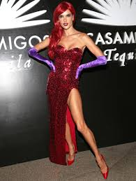 alessandra ambrosio is a very convincing jessica rabbit for
