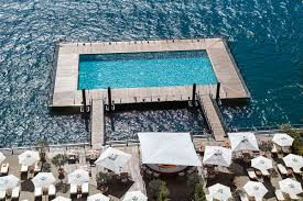 the floating pool at lake como wateronthewater grand hotel tremezzo