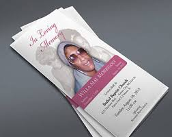 Custom Funeral Programs Custom Funeral Program Template Microsoft Publisher Word