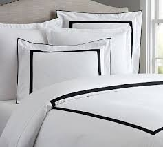 black and white bedding pottery barn