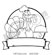 thanksgiving turkey clipart 231259 black and white outline of a
