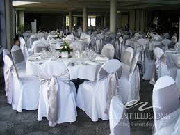 silver chair sashes white chair covers with silver sashes used at mandy and s