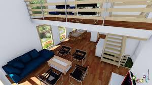 plan de maison avec cuisine ouverte best mezzanine ouverte contemporary amazing house design