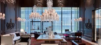 Chandelier New York Crystal Palace Flagship Baccarat Hotel And Residences Sparkles In
