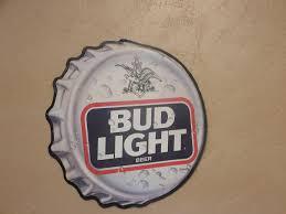 bud light tin signs vintage 1990 s bud light bottle cap tin advertising sign bud light
