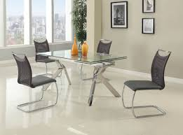 dining room tables houston fashionable rectangular glass top leather kitchen dinette sets