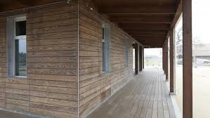 Outdoor Wood Ceiling Planks by 49 Exterior Wood Cladding Ideas Kebony