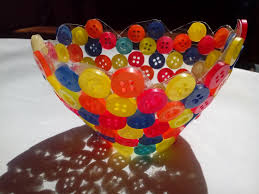 how to make a button bowl without a balloon