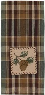 scotch green and white stripe dish towel kitchen towels rustic lodge pot holders rustic lodge towels