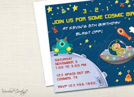 printable kid u0027s birthday party invitation alien space adventure