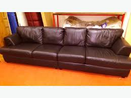 Large  Seater Leather Sofa Black Bilston Dudley - 4 seat leather sofa