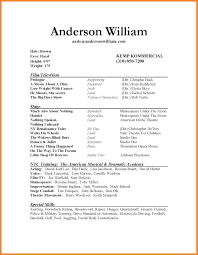 Acting Resume Special Skills Acting Resume Format Bio Resume Samples