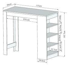 hauteur table cuisine quelle hauteur de plan de travail choisir cuisine plus choisir