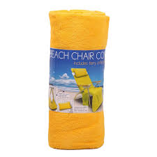 Beach Lounge Chair Amazon Com Beach Chair Cover Includes Terry Inflatable Pillow