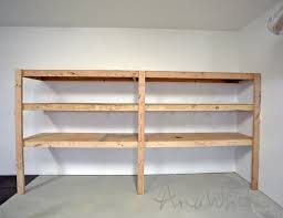 Simple Wood Storage Shelf Plans by Ana White Easy And Fast Diy Garage Or Basement Shelving For Tote