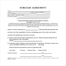sublease agreement 17 download free documents in pdf word