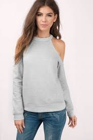 cold shoulder sweaters grey sweater cold shoulder sweater grey hoodie