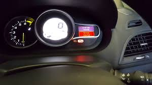 renault megane service light reset youtube