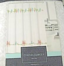 Cynthia Rowley Curtain Cynthia Rowley Contemporary Shower Curtains Ebay