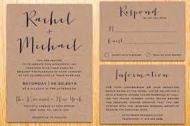 invitation paper digital printable kraft paper wedding invitation suite classic