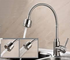 stainless steel kitchen faucets free shipping 304 stainless steel kitchen mixer taps hot and cold