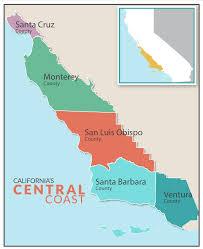 san francisco map california california central coast