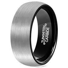 black mens wedding rings 8mm unisex or men s wedding band mens wedding rings gray and