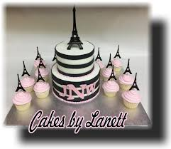 paris theme baby shower cake cupcakes cake by lanett cakesdecor