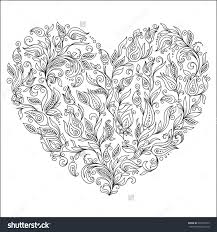 printable coloring pages of flowers valentine flower coloring pages gobel coloring page