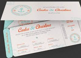 boarding pass invitations wedding cruise boarding pass invitation template on behance