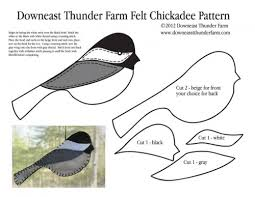 felt chickadee ornament downeast thunder farm