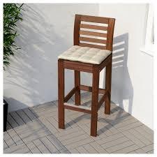 bar stool outdoor äpplarö bar stool with backrest outdoor brown stained ikea