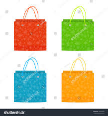 christmas paper bags colorful christmas paper bags isolated on stock vector 766904068