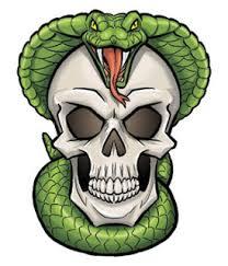 temporary design skull and snake variant