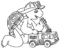 franklin firefighter franklin coloring pages
