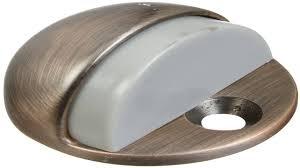 national hardware v1936 floor door stops solid brass in satin