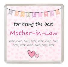 mother in law mother in law coaster thank you for being the best ever drink mat