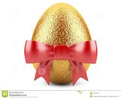 easter ribbon golden easter egg with ribbon stock illustration illustration