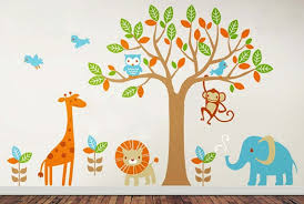 Removable Nursery Wall Decals 12 Wall Decals 6 Safari Playland Nursery Wall Decals With