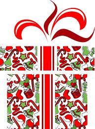 gift box made of traditional christmas symbols stock vector