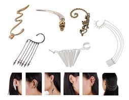 earrings for pierced ears cheap ear cuff jewelry for pierced ears find ear cuff jewelry for