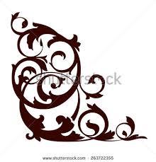 vector illustration floral ornament design stock vector 263722355