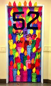 birthday door decoration for boss haute glue momma pinterest